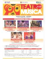 Locandina TEATRO MUSICA 2016/2017