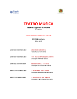 Programma TEATROMUSICA 2016-2017