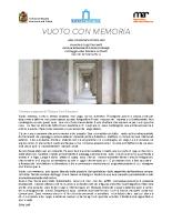 Comunicato VUOTO CON MEMORIA