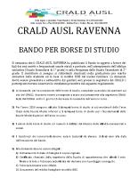 BANDO PER BORSE DI STUDIO