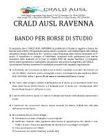 BANDO PER BORSE DI STUDIO 2019