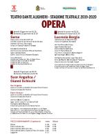 Programma Opera e Danza 2019-2020
